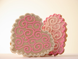 Swirly Heart Cookie