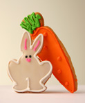 Easter Bunny with Carrot Cookie