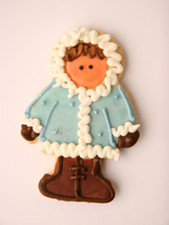 Girl Eskimo Decorated Cookie